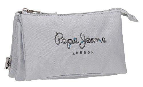 Pepe Jeans Harlow Neceser de Viaje, 22 cm, 1.32 litros, Gris