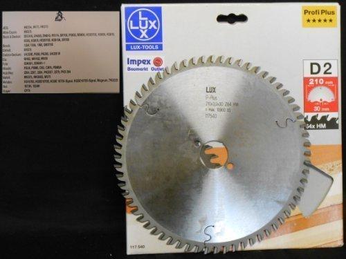 OBI LUX 117540 D2 Profi Plus HM-Kreissägeblatt 210 x 30 mm 64 Z