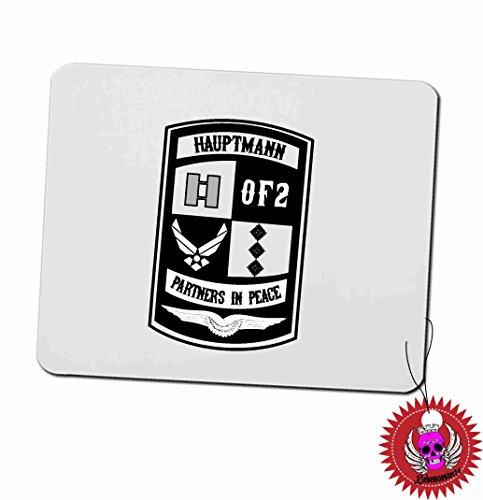 """Mousepad 3mm mit Aufdruck Spruch """" Hauptmann OF-2 Partners in Peace … """" Bedrucktes Mousepad mit Moosgummi unterseite für Büro und Gamer"""