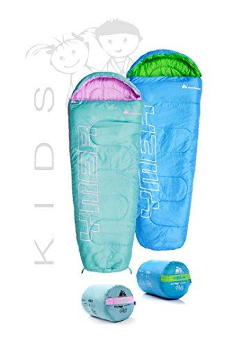Meteor Outdoorer Premium sacco a pelo per bambini, blu/verde