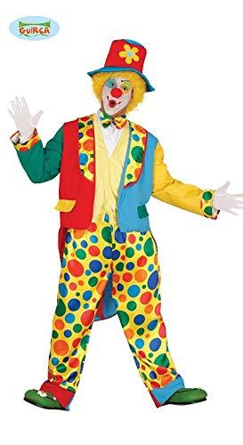 Guirca Costume da Pagliaccio Clown per Adulti, Taglia Unica, 84368