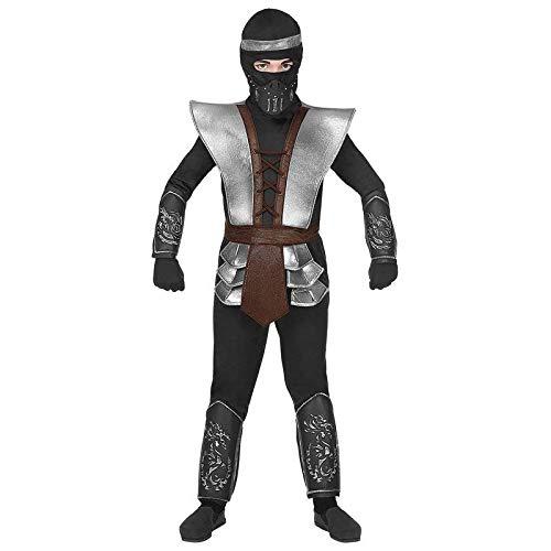 Lively Moments Kinderkostüm Master Ninja silberfarben / Ninjakostüm / Halloweenkostüm / Faschingsskostüm Gr. 140 ( 8 - 10 Jahre ()
