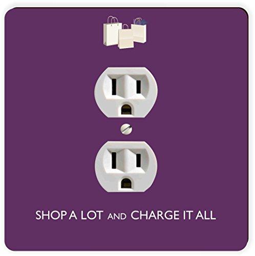 Rikki Knight Shop Viel & Charge It Alle violett Einzigen Steckdose Platte