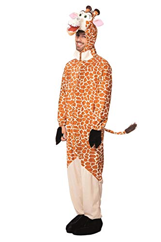 Giraffe Kostüm Herrenkostüme Herren Karneval Fasching Overall Kopf Orange Beige