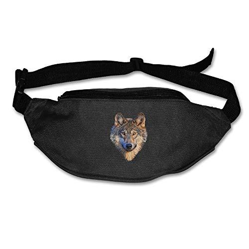 Expandable Organizer Kurze (Unisex Pockets Wolf Head Fanny Pack Waist/Bum Bag Adjustable Belt Bags Running Cycling Fishing Sport Waist Bags Black)