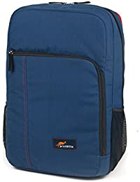 Protecta Plan B Laptop Backpack For Laptops With Screen Size Up To 15.6 Inch. (Navy Blue & Red)