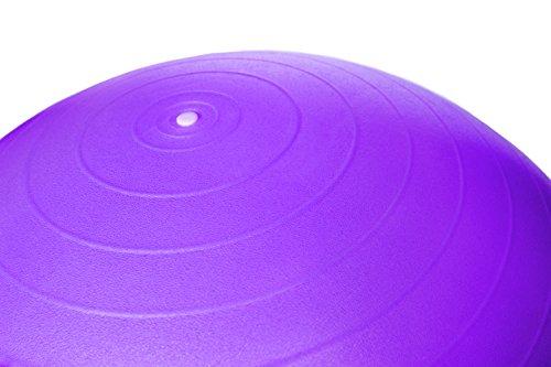 Sosila Anti-Burst Gymnastikball, Yogaball, Pilatesball, Fitnessball, Sitzball mit Pumpe, rutschfest, berstsicher von 65cm und 75cm, 150kg Maximalbelastbarkeit, Pezziball Swissball als Fitness Kleingeräte und Balance Stuhl, ideal für Rehasport, Balanceübungen, Koordinationsübungen, Schwarz, Lila, Pink und Blau (Lila, 65cm) - 3