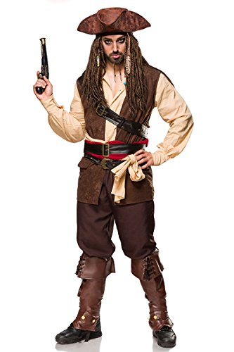 MASK PARADISE Kostümset Captain Jack - Jack Sparrow Piratenhut