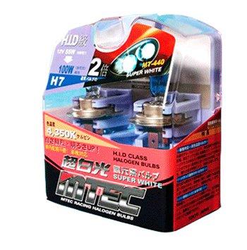 Mtec modèle H7 55W superwhite Lot de deux ampoules halogènes pour phares de véhicules