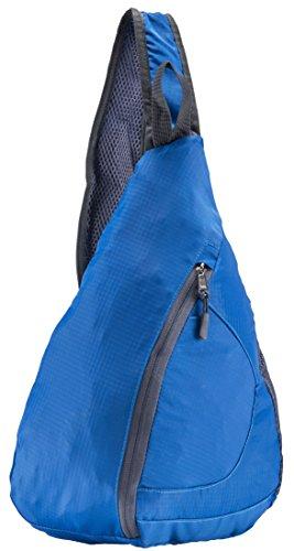 Crossbody-Rucksack, ideal auf Reisen, Wandern, Schule, Unisex, blau -