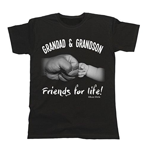 GRANDAD T-Shirt Grandad & Grandson Friends For Life for Grandpa Schwarz