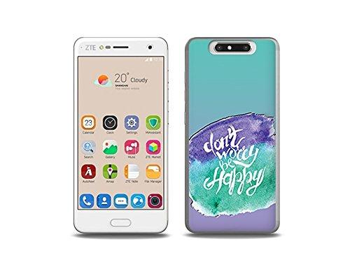 etuo ZTE Blade V8 Handyhülle Schutzhülle Etui Hülle Case Cover Tasche für Handy Fantastic Case - Sei glücklich