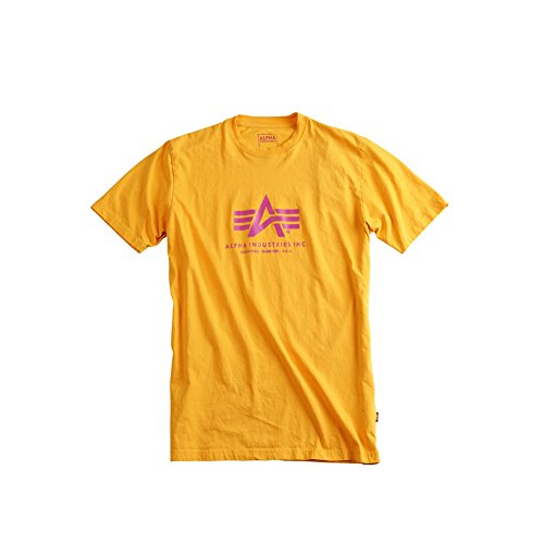 Alpha Industries Basic Logo T-Shirt Logo Shirt Yellow