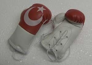 Mini gants de boxe avec drapeau turquie