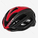 DHGLRHSLDNJ Fahrradhelm ultraleichter roter Protone-Fahrradhelm aero capacete Straße MTB Berg XC Hinterradfahrrad-Sturzhelm 52-58cm Casco Ciclismo Sturzhelm, 1.4, M