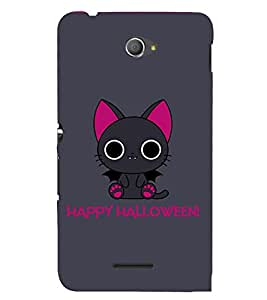 Kitty Happy Halloween 3D Hard Polycarbonate Designer Back Case Cover for Sony Xperia E4 Dual :: Sony Xperia E4