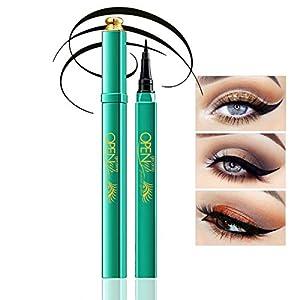 Delineador de ojos Peacock Impermeable, de larga duración, Black Eyeliner Liquid Eye Liner Lápiz lápiz Maquillaje Liquid Eye Liner Preciso Secado rápido