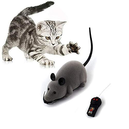 Marysa ratto giocattolo, rc strano telecomando wireless mouse rat elettronica pet giocattolo per gatti cani domestici bambini nuovo regalo (grey)