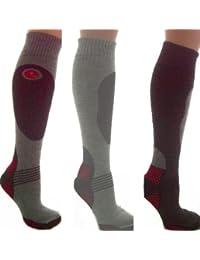 3prs Men's Ski Socks Long Hose Socks 6-11