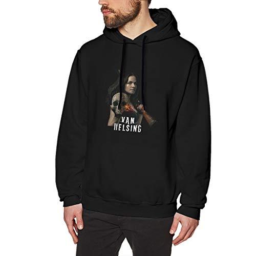 Harrisontdavison Herren Baumwolle Graphic Hoody Lustig Van Helsing Black Langärmliges Sweatshirt 3XL -