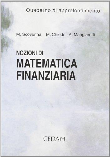 Nozioni di matematica finanziaria. Quaderno di approfondimento