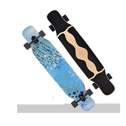 YXLZZO Skateboard Longboard Anfänger Erwachsene Dance Board Anfänger Pinsel Street Scooter 118 × 24cm (Farbe : C)