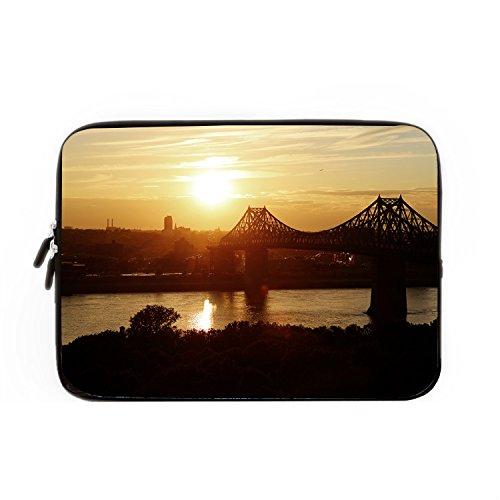 Preisvergleich Produktbild chadme Laptop Hülle/Tasche Jacques Cartier Bridge Notebook Sleeve Cases mit Reißverschluss für MacBook Air 12 zoll