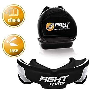 Fight Mind Profi Mundschutz – Sport Zahnschutz | + K.O Schutz + E-Book + max. O₂ + BPA freier Zahnschutz | Boxen, MMA, Krav MAGA