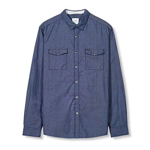 Esprit Uomo Camicia In Puro Cotone Taglia 6 Blu