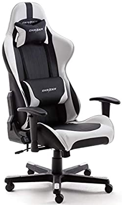 DX Racer 6  62506SW5 6 Silla gaming, silla de escritorio, silla de oficina, gaming chair, negro/blanco, 78 x 52 x 124-134cm
