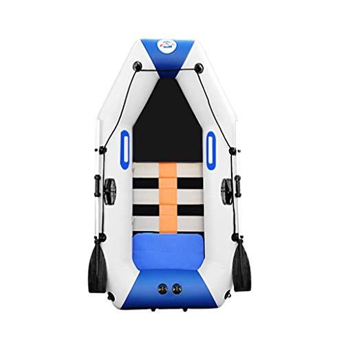 Mysida Inflatable Boat Barca da Pesca Gonfiabile Explorer Kayak Island Voyage Tender Esterno con Remi e Pompa ad Aria ad Alto rendimento 2 Persone