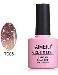 AIMEILI UV LED Thermo Gellack ablösbarer Nagellack Gel Polish - Chocolate Spark (TC05) 10ml
