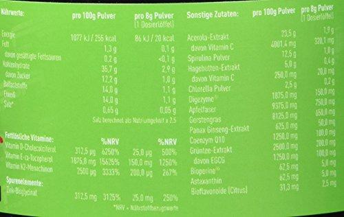 Greens Pulver Superfood und Multivitamin, mit Gerstengras, Spirulina, Acerola und Astaxanthin, 240 g - von der Profisport-Marke FSA Nutrition, Hergestellt in Deutschland