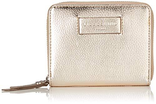 Liebeskind Berlin Damen Essential Conny Wallet Medium Geldbörse, Gold (Moonlight), 3x11x13 cm - Leder Damen-medium Wallet