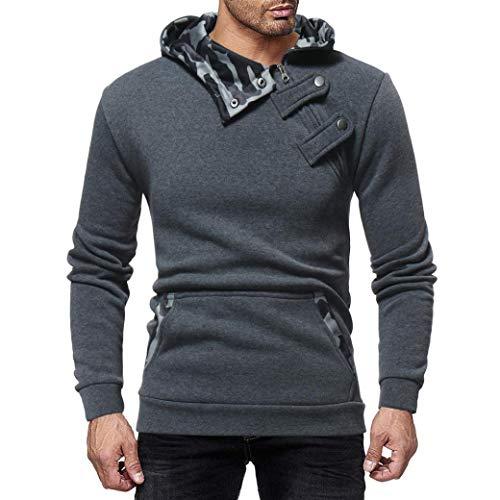 Preisvergleich Produktbild Sannysis Herren Herbst Winter Casual Camouflage Reißverschluss Slim Langarm Hoodie Top Bluse