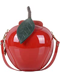 QZUnique Women's Pu Small Cute Apple Shape Handbag