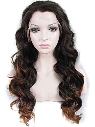 Imstyle Topstar Coiffure Brun ombré Auburn Couleur longue Body ondulée Texture Charming Drag Queen Perruques