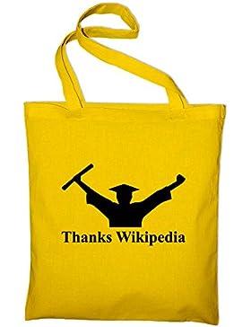 Thanks Wikipedia Abschluss Diplom Fun, Bachelor Abitur Jutebeutel, Beutel, Stoffbeutel, Baumwolltasche