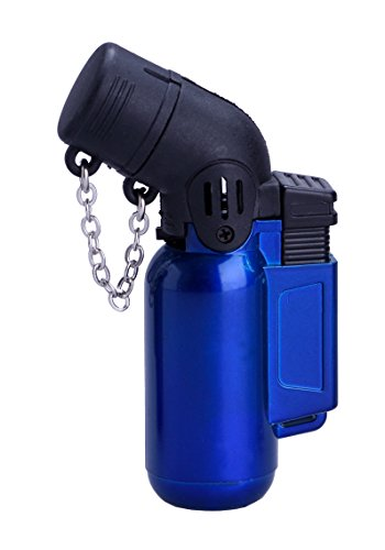 PROF Metal Doppio Jet Blueflame Gas Lighter Cigarette Cigar Sport Kitchen Camping PROF (blu)
