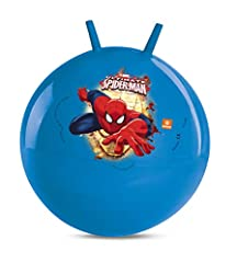 Idea Regalo - Mondo- Spider-Man Kangaroo Toys Design Spiderman Ultimate Marvel-Palla per Saltare Bambino/bambina-06961, Colore Blu, 8001011069613