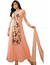 Special Mega Sale Festival Offer C&H Orange Georgette Embroidery Designer Anarkali Suits
