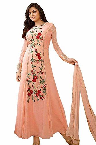 Special Mega Sale Festival Offer C&H Orange Georgette Embroidery Designer Anarkali Suits