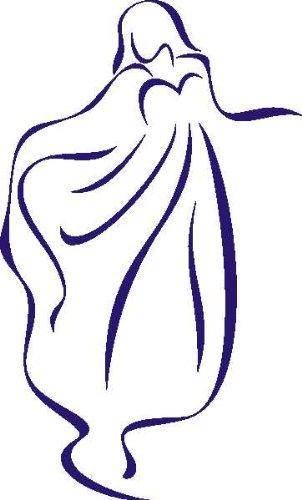 INDIGOS/Wandaufkleber-e304 hübsches Mädchen in Einem wunderschönem Kleid 96x58 cm, Vinyl, blau 96 x 58 x 1 cm