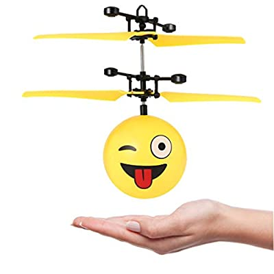 Hebey RC Flying Ball, Colorful Flying RC Kids Toys RC Flying Ball Helicopter