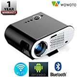 Wowoto Portable Video Projector GP90 Up 3200 Lumens Wireless Projector With Android Operating System 4.42 Multimedia HD Home Cinema Theater