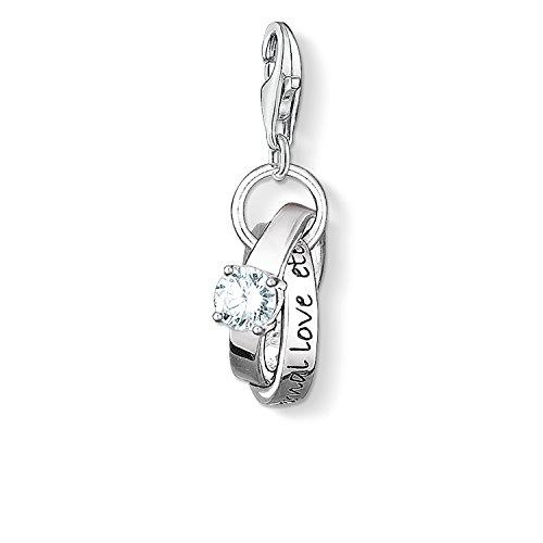 THOMAS SABO Damen Charm-Anhänger Eheringe Hochzeit Charm Club 925 Sterling Silber 0673-051-14