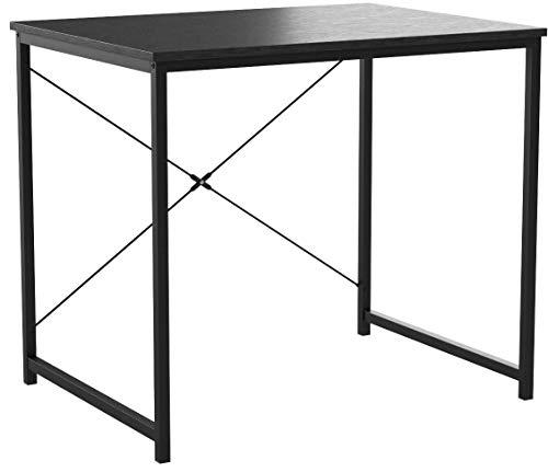 WOLTU Bureau d'ordinateur Table de Travail en Bois et Acier Table de Bureau, 80x60x70cm, Noir, TSB03she