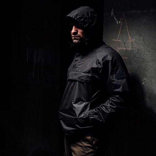 PG Wear Windbreaker Riot inkl. Sturmhaube in schwarz von S-3XL Schwarz