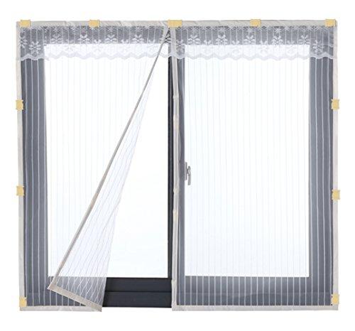 Liveinu zanzariera magnetica per porte finestre tenda zanzariera con magneti rete anti zanzare zanzariera con clip adesiva 90x150cm bianco