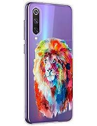 Oihxse Compatible con Xiaomi Mi Mix 2s Funda Suave Gel TPU Silicona Cristal Transparente Carcasa Acuarela Animal Pintado Patrón Protectora Estuche Bumper Caso Case (B8)